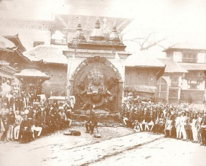 Kal Bhairav (Photo taken by Dirga Man Chitrakar around 1910)