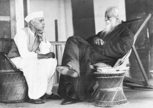 Rabindranath-Tagore-and-Jawaharlal-Nehru-November-4-1936-Bolpur-Bengal-300x212