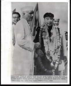 Indias-Prime-Minister-Jawaharlal-Nehru-Welcomes-Chou-En-Lai-of-China-at-New-Delhi-Palam-Airfield-1954-246x300