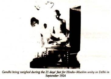 Gandhji Hunger Fast Delhi 1924