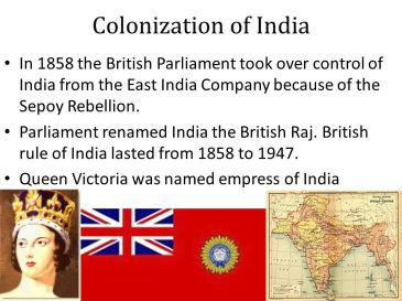 BRITAIN ANNEXED INDIA from East India Co.